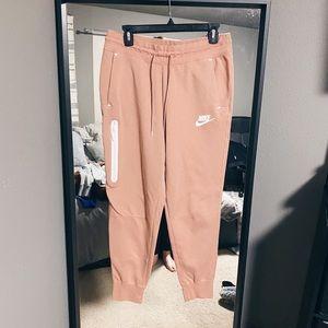 Nike Peach Pink Tech Fleece Thick Sweatpants